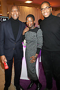 27 January 2011-New York , NY- l to r: Gary Lampley, Thelma Golden and Reggie Canal at ' For the Love of Color ' celebrating the vision of Eunice Johnson and the Ebony Fashion, Fair Cosemetics sponsored by Macy's and held at Macy's Herald Square on January 27, 2011 in New York City.  Photo Credit: Terrence Jennings