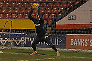 AFC Wimbledon goalkeeper Aaron Ramsdale (35) warms up during the EFL Sky Bet League 1 match between Walsall and AFC Wimbledon at the Banks's Stadium, Walsall, England on 12 February 2019.
