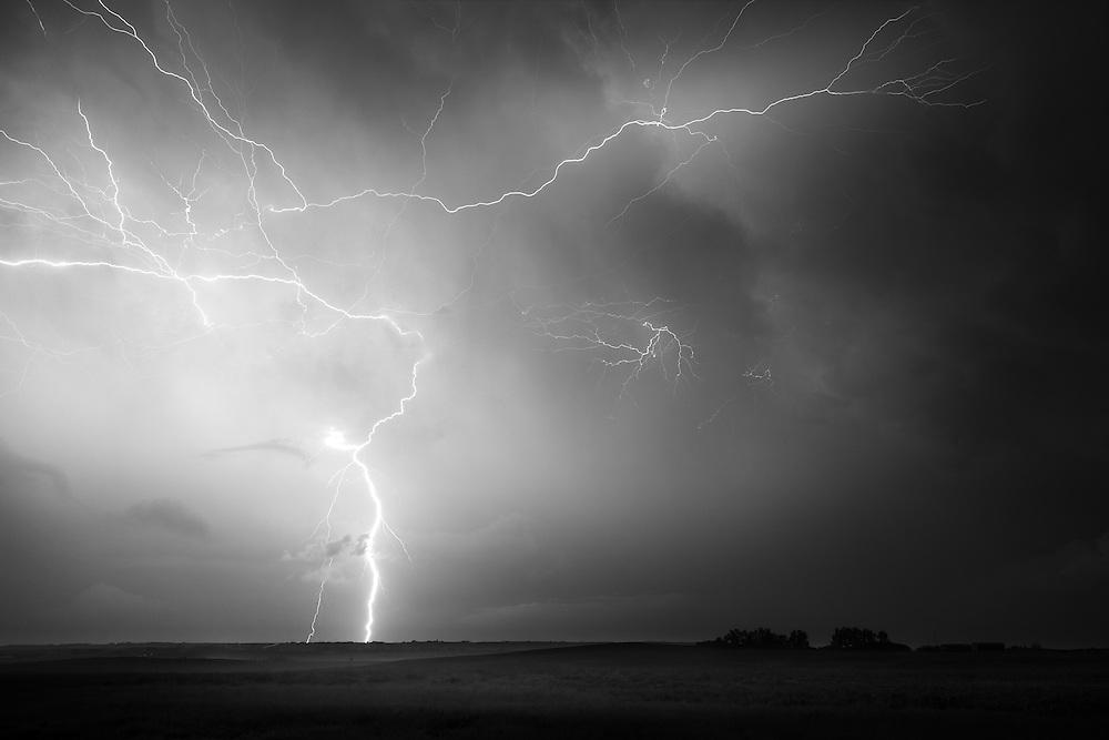 Epic Lightning Bolt during a thunderstorm on July 12 2012.