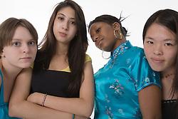 Group of teenage girls,