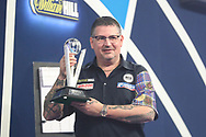 Runner up Gary Anderson during the William Hill World Darts Championship Final at Alexandra Palace, London, United Kingdom on 3 January 2021.