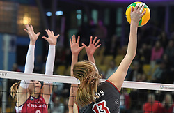 Margarita Kurilo of Lokomotiv during the volleyball match between NKBM Branik Maribor and Lokomotiv Kaliningrad, of CEV Volleyball Champions League Volley 2020, Women, Pool B, Leg 5, on Februar 04, 2020, in Lukna. Photo: Milos Vujinovic /Sportida