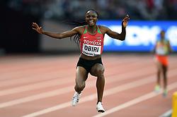 Hellen Obiri of Kenya celebrates her first place finish - Mandatory byline: Patrick Khachfe/JMP - 07966 386802 - 13/08/2017 - ATHLETICS - London Stadium - London, England - Women's 5000m Final - IAAF World Championships
