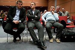 President of SZS Tomaz Lovse, Jure Kosir and Marko Schultz at Elections for Alpine Ski president of Slovenian Ski Federation, on April 7, 2010, in Ljubljana, Slovenia.  (Photo by Vid Ponikvar / Sportida)
