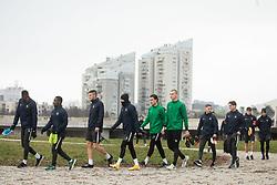 Athletes during first practice session of NK Olimpija Ljubljana before the spring season of Prva liga Telekom Slovenije 2020/21, on January 7, 2021 in Sports park Stozice, Ljubljana Slovenia. Photo by Vid Ponikvar / Sportida
