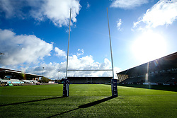 A general view of Kingston Park, home of Newcastle Falcons - Mandatory by-line: Robbie Stephenson/JMP - 28/10/2018 - RUGBY - Kingston Park Stadium - Newcastle upon Tyne, England - Newcastle Falcons v Exeter Chiefs - Premiership Rugby Cup