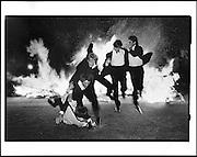 Burning boat, Oriel. Oxford, 1984.