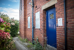 © Licensed to London News Pictures. 10/10/2016. Sheffield UK. Picture shows the Hammerton Road Police station in Sheffield where serial killer Peter Sutcliffe, known as the Yorkshire Ripper was first taken after he was arrested on the 2nd January 1981 & managed to hide a knife he was carrying in a toilet cistern at the station. The station has been closed since 2014 & demolition work is due to start today.  Photo credit: Andrew McCaren/LNP