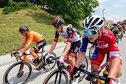Tadej POGACAR of UAE TEAM EMIRATES, Gal Glivar of Adria Mobil during 1st Stage of 27th Tour of Slovenia 2021 cycling race between Ptuj and Rogaska Slatina (151,5 km), on June 9, 2021 in Sports park Kranj, Kranj, Slovenia. Photo by Vid Ponikvar / Sportida