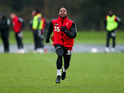 Owurea Edwards of Bristol City during a training session ahead of the FA Cup game with Portsmouth - Rogan/JMP - 07/01/2021 - Failand - Bristol, England.