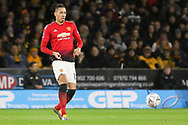 Manchester United Defender Chris Smalling during the The FA Cup match between Wolverhampton Wanderers and Manchester United at Molineux, Wolverhampton, England on 16 March 2019.
