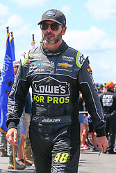 July 29, 2018 - Long Pond, PA, U.S. - LONG POND, PA - JULY 28:   Monster Energy NASCAR Cup Series driver Jimmie Johnson Lowe's for Pros Chevrolet (48) driving in his 600th race is introduced prior to the Monster Energy NASCAR Cup Series - 45th Annual Gander Outdoors 400 on July 29, 2018 at Pocono Raceway in Long Pond, PA. (Photo by Rich Graessle/Icon Sportswire) (Credit Image: © Rich Graessle/Icon SMI via ZUMA Press)