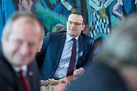 31 OCT 2018, BERLIN/GERMANY:<br /> Jens Spahn, CDU, Bundesgesundheitsminister,  vor Beginn der Kabinettsitzung, Bundeskanzleramt<br /> IMAGE: 20181031-01-017<br /> KEYWORDS: Kabinett, Sitzung
