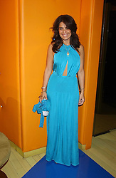 DANIELLA HELAYEL at a fashion show by ISSA held at Cocoon, 65 Regent Street, London on 21st September 2005.<br />