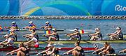 "Rio de Janeiro. BRAZIL.   Women's 8's Final. 2016 Olympic Rowing Regatta. Lagoa Stadium,<br /> Copacabana,  ""Olympic Summer Games""<br /> Rodrigo de Freitas Lagoon, Lagoa.   Saturday  13/08/2016 <br /> <br /> [Mandatory Credit; Peter SPURRIER/Intersport Images]"