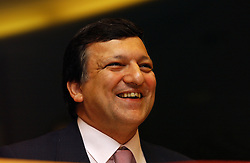BRUSSELS, BELGIUM - JULY-13-2004 - JosŽ Manuel Barroso , candidate for President of the European Commission, speaks to Green party members of the European Parliament during his confirmation hearings. Barroso , was nominated by the leaders of the member states of the European Union to succeed Romano Prodi as the next President of the European Commission. Barroso recently resigned his post as Prime Minister of Portugal so he could accept the position. The European Parliament will make the final decision on Barroso's nomination. (PHOTO © JOCK FISTICK)