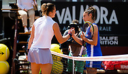 Aryna Sabalenka of Belarus and Sara Sorribes Tormo of Spain in action during the second round of the 2021 Internazionali BNL d'Italia, WTA 1000 tennis tournament on May 12, 2021 at Foro Italico in Rome, Italy - Photo Rob Prange / Spain ProSportsImages / DPPI / ProSportsImages / DPPI