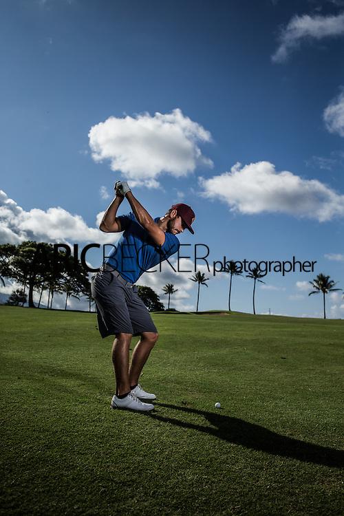 Maria Alvarez and Jordan Rodgers golf session for Lululemon