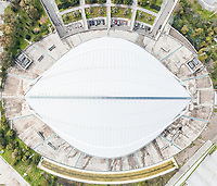 Aerial view of the Olympic Velodrome stadium in Athens, Greece
