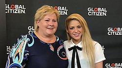 """Shakira releases a photo on Instagram with the following caption: """"With the Prime Minister of Norway, @erna_solberg who is doubling the investment made by her country towards the international education fund. She rocks! Help us get more leaders on board for education! Con la primera ministra de Noruega, quien est\u00e1 doblando la contribuci\u00f3n de su pa\u00eds hacia la educacion y apoyando el establecimiento de este fondo internacional -- una persona incre\u00edble. Ay\u00fadennos a que m\u00e1s l\u00edderes mundiales se sumen a defender la educaci\u00f3n como una prioridad. Shak"""". Photo Credit: Instagram *** No USA Distribution *** For Editorial Use Only *** Not to be Published in Books or Photo Books ***  Please note: Fees charged by the agency are for the agency's services only, and do not, nor are they intended to, convey to the user any ownership of Copyright or License in the material. The agency does not claim any ownership including but not limited to Copyright or License in the attached material. By publishing this material you expressly agree to indemnify and to hold the agency and its directors, shareholders and employees harmless from any loss, claims, damages, demands, expenses (including legal fees), or any causes of action or allegation against the agency arising out of or connected in any way with publication of the material."""