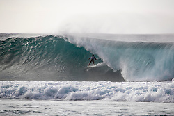 December 16, 2018 - Pupukea, Hawaii, U.S. - Felipe Toledo of Brazil is eliminated from competition after placing second in round 3 heat 12 of the Billabong Pipe Masters. (Credit Image: © Tony Heff/WSL via ZUMA Wire)