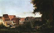 The Colosseum seen from the Farnese Gardens', 1826.  Jean Baptiste Camille Corot (1796-1875) French painter, Barbizon School..