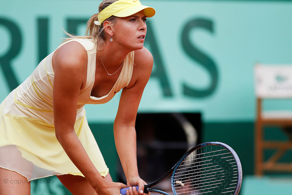 Roland Garros 2011. Paris, France. May 26th 2011..Russian player Maria SHARAPOVA against Caroline GARCIA