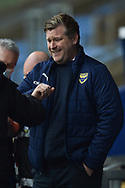Oxford United manager Karl Robinson during the EFL Sky Bet League 1 match between Oxford United and Swindon Town at the Kassam Stadium, Oxford, England on 28 November 2020.