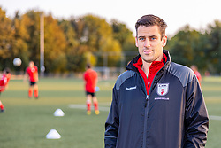 ROELOFARENDSVEEN, NETHERLANDS - SEPTEMBER 2: Trainer Koen van der Vlugt of EMM'21 at Sportpark Alkemade Oost on September 2, 2021 in Roelofarendsveen, Netherlands