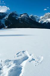 Dec. 14, 2012 - Snow angel on emerald lake (Credit Image: © Image Source/ZUMAPRESS.com)