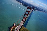 The Golden Gate Bridge & Presidio (Aerial)