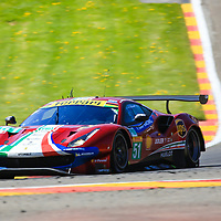 #51, AF Corse, Ferrari 488 GTE EVO, LMGTE Pro, driven by:  Alessandro Pier Guidi, James Calado, FIA WEC 6hrs of Spa 2018, 05/05/2018,