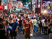 25 DECEMBER 2015 - SINGAPORE, SINGAPORE:  Pedestrians among the Christmas themed holiday lights on Orchard Road in Singapore. Orchard Road is the heart of Singapore's upscale shopping and consumerism.    PHOTO BY JACK KURTZ