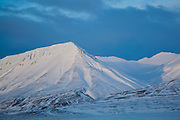 Last light on Bassen, Svalbard