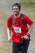 New Paltz, New York - Max Brodsky runs through the Mohonk Preserve during the Shawangunk Ridge Trail Run/Hike 20-mile race  on Sept. 20, 2014.