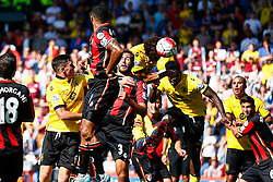 Goal, Rudy Gestede of Aston Villa scores with a blasting header , Aston Villa 1-0 AFC Bournemouth - Mandatory by-line: Jason Brown/JMP - Mobile 07966 386802 08/08/2015 - FOOTBALL - Bournemouth, Vitality Stadium - AFC Bournemouth v Aston Villa - Barclays Premier League - Season opener