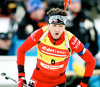 Skiskyting , IBU World Cup Biathlon  , 10km sprint menn , Holmenkollen 13. Mars 2008 , Bjørn Einar Bjørndalen NOR , Foto: Thomas Andersen , Digitalsport