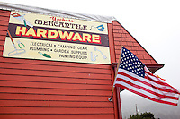 Old hardware store in Yachats, Oregon.