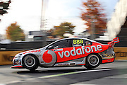 Craig Lowndes (Team Vodafone). ITM 400 ~ Race 5 & 6 of the 2011 V8 Supercar Championship Series. Hamilton Street Circuit on Friday 15 April 2011. Photo © Clay Cross / PHOTOSPORT
