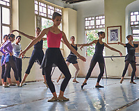 Ballet School in Old Havana. Image taken with a Fuji X-T1 camera and Zeiss 32 mm f/1.8 lens (ISO 800, 32 mm, f/2.8, 1/250 sec).