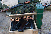 Kamenka, Karelia, Russia, 14/12/2007..Professional Russian soldiers and their kit during Snezhinka [Snowflake] 2007, a joint live fire training exercise for Russian and Swedish motorised infantry in which they play the roles of a combined peace-keeping force enforcing a demilitarised zone in a warring region.