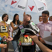 Public event of the Talmacsi MotoGP racing team on the Hungaroring racing track. Mogyorod, Hungary. Monday, 10. August 2009. ATTILA VOLGYI