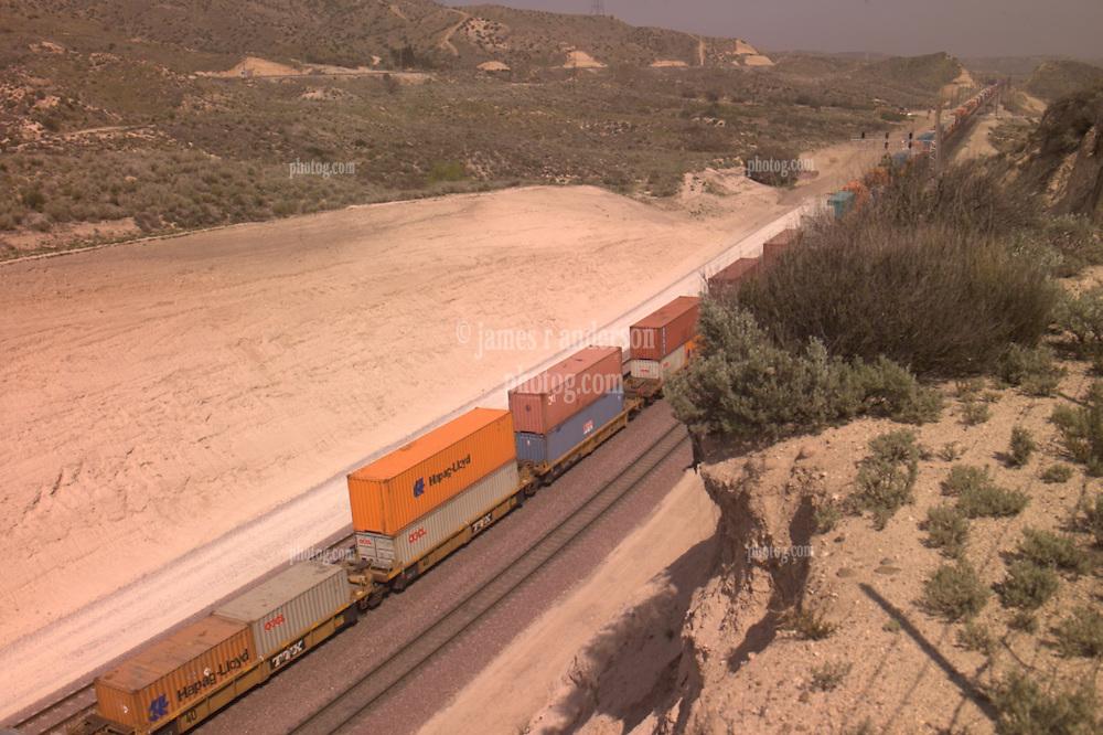 Old RT 66 2008 Railroad activity at Cajon Pass California