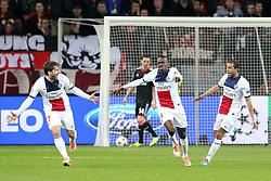 Football: Champions League<br /> Bayer 04 Leverkusen vs Paris Saint Germains (PSG)<br /> Blaise Matuidi (PSG) scores the first goal *** Local Caption *** © pixathlon