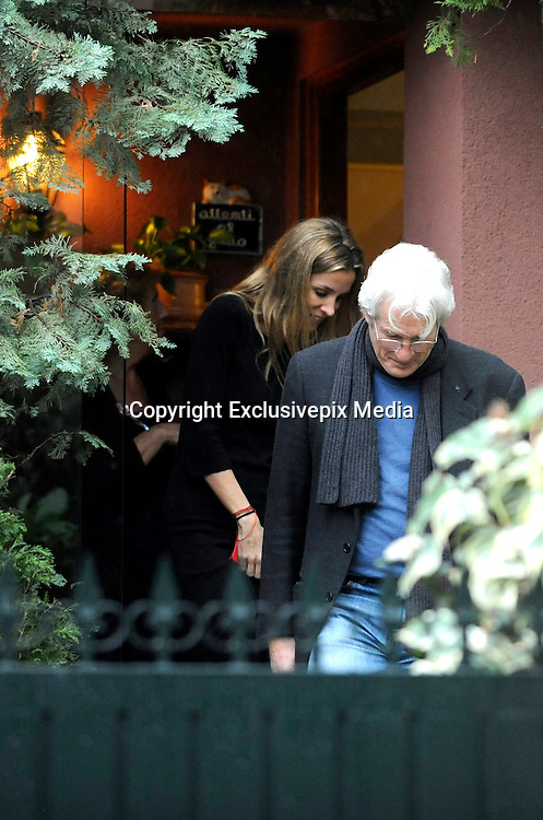 MADRID, SPAIN, 2015, JANUARY 28 <br /> <br /> Richard Gere has returned to Madrid on a surprise visit which has enjoyed the best of the company of his girlfriend, Alejandra Silva. As did last October, the couple was visiting the RAIS Foundation, which collaborate together and whose main objective is to combat social exclusion and to meet the needs of the most disadvantaged people, especially people without home. Then they visited some houses in some of the most luxurious areas accompanied by the interior designer, Isabel Lopez de Quesada. Maybe they could be looking for house to live together<br /> ©Exclusivepix Media