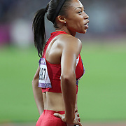Allyson Felix, USA, winning the Gold Medal in the  Women's 200m Final at the Olympic Stadium, Olympic Park, during the London 2012 Olympic games. London, UK. 8th August 2012. Photo Tim Clayton