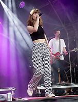 Maisie Peters at the Big Feastival 2021 on Alex James Cotswolds farm, Kingham oxfordshire