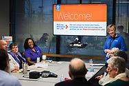 Deaconess Dorothy Krans, director of Recognized Service Organizations, leads a small-group session at the Making Disciples for Life Initial Gathering on Friday, Jan. 10, 2020, at the International Center of The Lutheran Church–Missouri Synod in St. Louis. LCMS Communications/Erik M. Lunsford