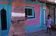 Colourful home near Mysore, Karnataka, India