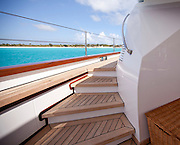 Perini Navi superyacht 'Klosters'. Re-shoot of new interior details and location shots in Anguilla.